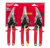 Milwaukee 48224533 3 Piece Aviation Metal Snips Set £39.99 Milwaukee 48224533 3 Piece Aviation Metal Snips Set