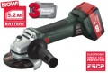 Metabo W18LTX 18 V 125 mm Cordless Grinder 2 x 5.2Ah Li-ion Batteries & Case £349.95 Metabo W18ltx 18 V 125 Mm Cordless Grinder 2 X 5.2ah Li-ion Batteries