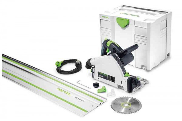 Festool 561583 TS55REBQ-PLUS-FS 240V 160MM Plunge Saw With T-loc Systainer Case Plus 1.4 Guiderail