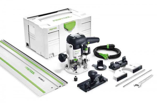 Festool 574374 240V OF1010EBQ-SET-FS Router With Systainer T-loc Case & 800mm Guide Rail