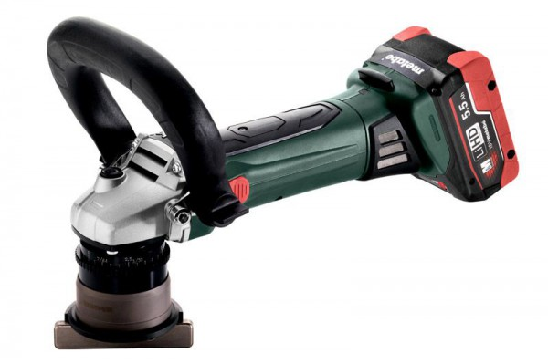 Metabo KFM 18 LTX 3 RF 18V Cordless Bevelling Tool with 2 x LiHD 4.0AH Batteries, Charger and MetaLoc