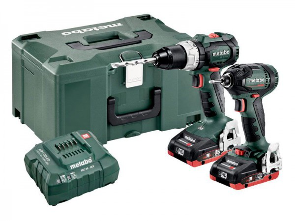 Metabo Combo Set 2.1.12 18V  BL LIHD Cordless Twin Pack with 2 x 3.5Ah Batteries, Charger and MetaLoc Case