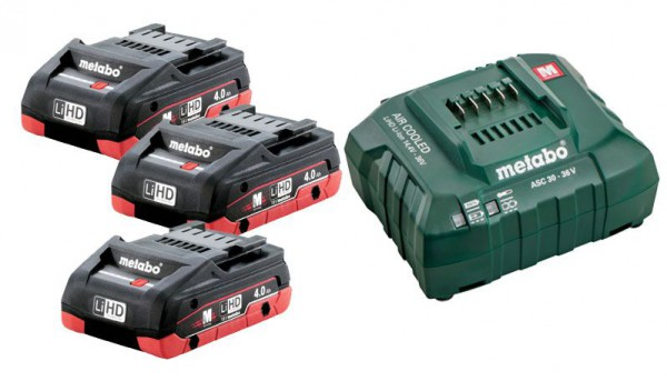 Metabo Basic Set 3 x LiHD 4.0Ah