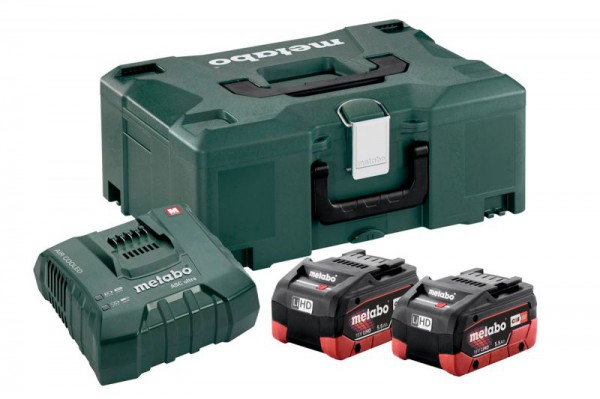 Metabo Basic-Set 2 x LiHD 5.5 Ah + MetaLoc