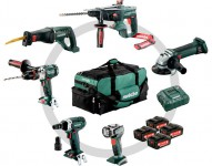 Metabo 691008000 18V 6pc Construction Combo Set With 4 x 4.0Ah Batteries, Charger & Large Bag  was £899.95 £699.00
