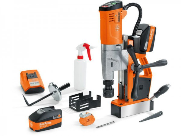 Fein AKBU 35 PMQW 18v Cordless Magnetic Drill (Brushless) With 2 x 5.2Ah Batteries Charger & Case