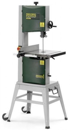 Record Power BS300E Economical Bandsaw With Stand & Wheelkit & Mitre Fence