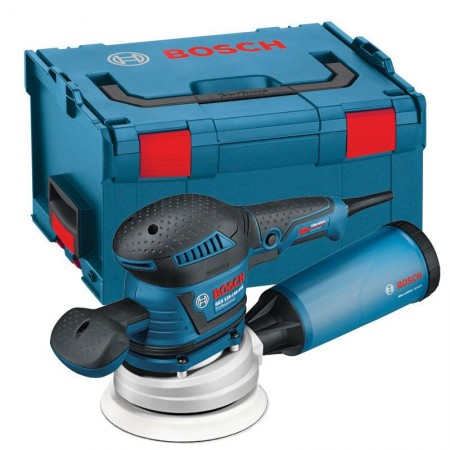 BOSCH GEX125-150AVE 240V 400W 125MM & 150MM RANDOM ORBIT SANDER IN L-BOXX