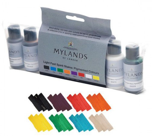 MYLANDS STAIN SET:COLOURS (8 x 30ML)