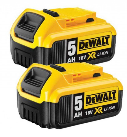 Dewalt DCB184 18V 2 x 5.0Ah XR-Lion Battery (Pack of 2)
