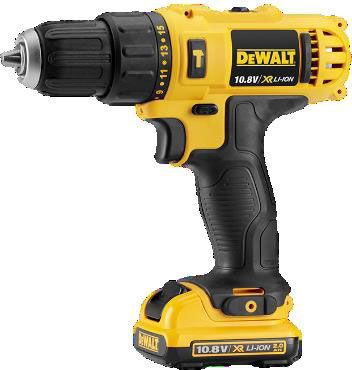 Dewalt DCD716D2-GB 10.8V XR Sub Compact Hammer Drill Driver with 2 x 2.0Ah Battery