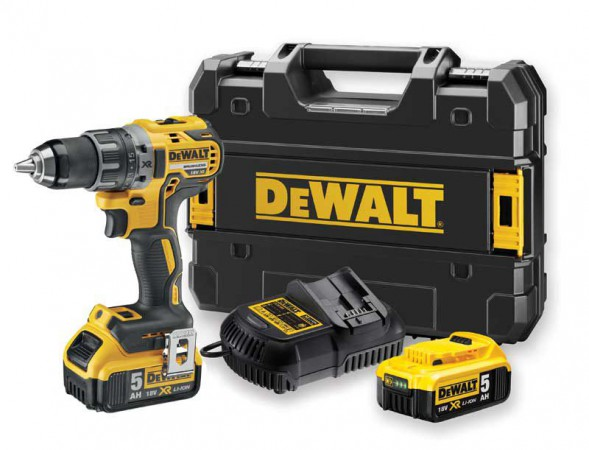 Dewalt DCD791P2 18V Brushless G2 Drill Driver with 2 x 5.0Ah Batteries