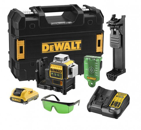 Dewalt DCE089D1G Green Multi Line Laser 1 x 10.8v 2.0Ah Battery & Charger
