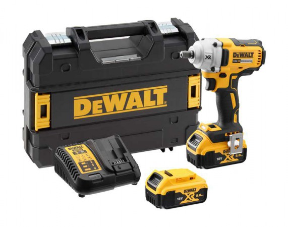 "Dewalt DCF894P2 18V XR 1/2"" Brushless Compact High Torque Impact Wrench (450Nm) with 2 x 5.0Ah Batteries"