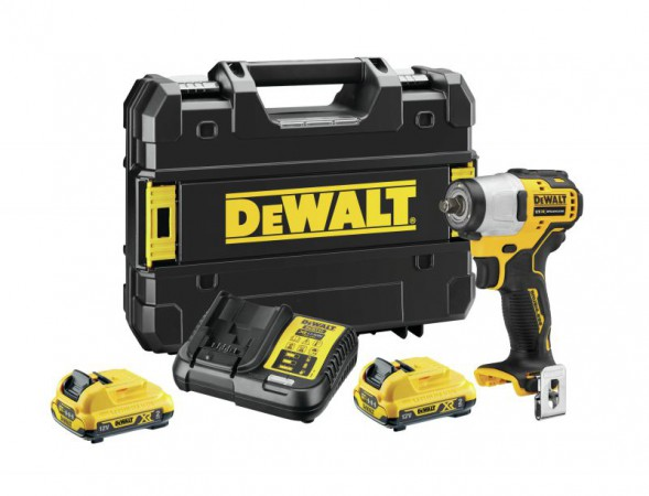 "Dewalt DCF902D2 12V XR Brushless Sub-Compact 3/8"" Impact Wrench - 2 x 2Ah"