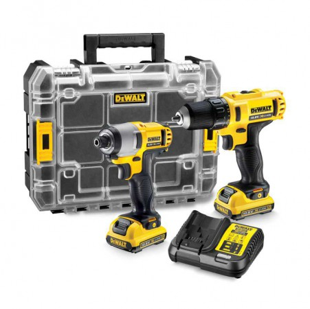 DEWALT DCK211D2T 10.8v Twin Pack TSTAK Kit 2 x 2.0Ah Li-Ion