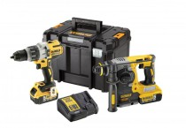 Dewalt DCK229P2T 18V XR Brushless Twin Pack DCD996 Combi & DCH273 SDS+ 2 x 5.0Ah  & T-Stak Case was £574.95 £494.95