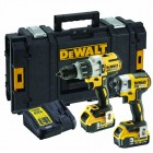 Dewalt DCK276P2 XR18V Brushless Twin Pack DCD996 Combi + DCF887 Impact Driver 2 x 5.0Ah Batteries & Tough System Case £379.95