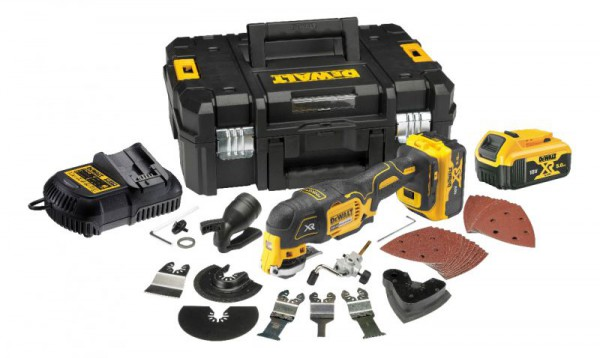 Dewalt DCS356P2 18V XR Oscillating Tool (3-speed) - 2 x 5Ah, Charger, Case & Accessories
