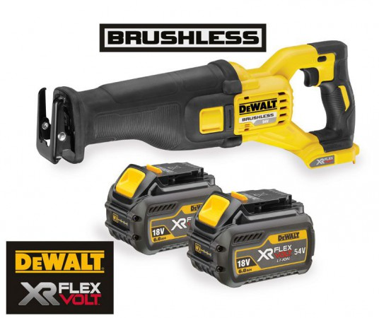 Dewalt DCS388T2 54V XR FLEXVOLT Reciprocating Saw - 2 x Batteries And Fast Charger