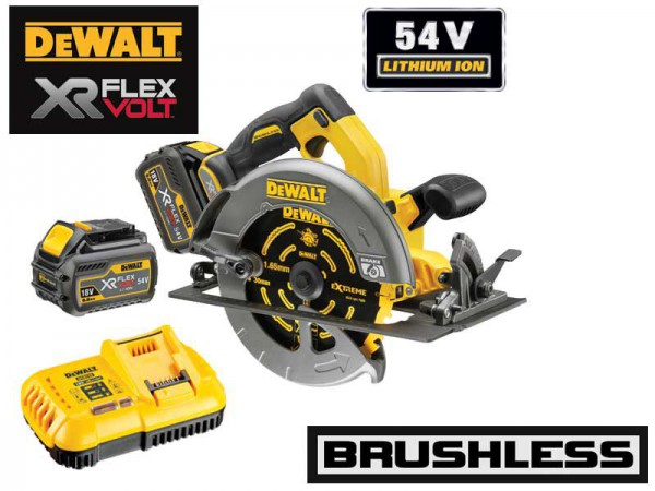 Dewalt DCS575T2 54V XR FLEXVOLT Circular Saw - 2 x Batteries And Fast Charger