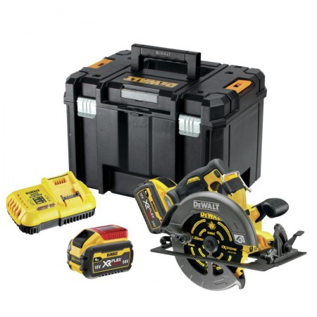 Dewalt DCS578X2 54V XR FLEXVOLT High Power 190mm Circular Saw - 2 x 9Ah & TStak Case