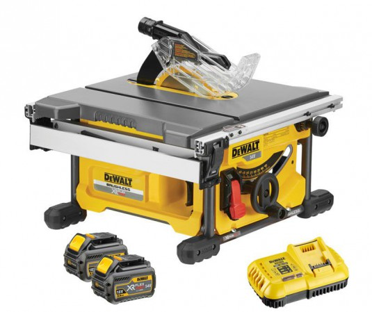 Dewalt DCS7485T2 54V XR FLEXVOLT Brushless Table Saw - 2 x Batteries And Fast Charger