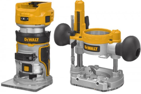 "Dewalt DCW604NT-XJ 18V XR Brushless ¼"" (8mm) Router Fixed & Plunge Bases - Bare Unit With T-Stak Case"