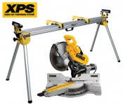 DEWALT DWS780 240V 305MM SLIDING CROSSCUT XPS MITRE SAW & DE7023 STAND £799.95