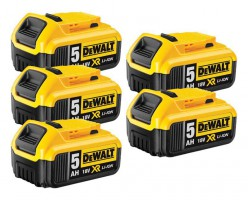 Dewalt DCB184 18V 5 x 5.0Ah XR-Lion Battery (Pack of 5) £279.95