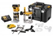 "Dewalt DCW604NT 18V XR Brushless ¼"" & 8mm Router With 1 x 18V 5.0Ah & 2.0Ah Batteries, Charger & T-Stak Case £429.95"