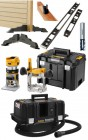 "Dewalt DCW604NT 18V XR Brushless ¼"" & 8mm Router Bare Unit With T-Stak Case & Hinge Jig Kit + DCV586MN M-Class Extractor £899.95"
