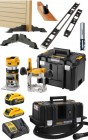 Dewalt DCW604NT 18V XR Brushless Router, 2 x 18V Batts, Charger, Case & Hinge Jig Kit +  DCV586MN M-Class Extractor  £1,019.00