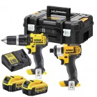 Dewalt DCZ285M2T 18V XR Combi Hammer & Impact Driver Twin Pack 2 x 4.0Ah Batteries, Charger & Case was £249.95 £229.95