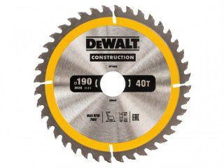 DEWALT DT1945-QZ Construction Circular Saw Blade 190 x 30mm x 40T