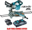 Makita DLS714NZ 36V (18v x 2) Li-ion Cordless Brushless Mitre Saw - Bundle With 2 x 5.0Ah Batteries & Twin Port Charger £719.95 Makita Dls714nz 36v (18v X 2) Li-ion Cordless Brushless Mitre Saw - Bundle With 2 X 5.0ah Batteries & Twin Port Charger