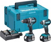 Makita DLX2180TJ 18V 5.0Ah Brushless Twin Pack DHP484 & DTD153 (2 x 5.0Ah ) & MakPac Case £329.95