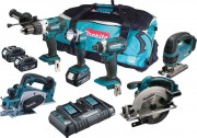 MAKITA DLX6067PT LXT 6 Piece Kit  With 3 x 5.0Ah Li-Ion Batteries, Dual Port Charger £699.95