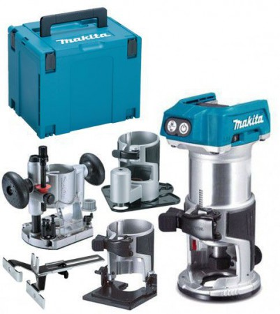 Makita DRT50ZJX3 18V LXT Brushless Cordless Compact Router Kit