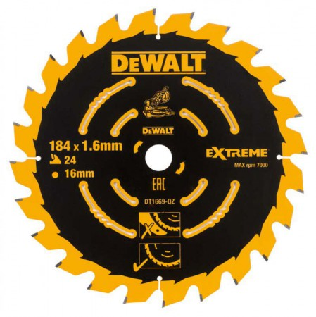 Dewalt DT1669-QZ Circular Saw Blade 184x16x24T Course for DCS365