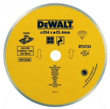 Dewalt DT3733 Ceramic Diamond Tile Blade 254 x 25.4mm For D24000