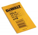 DEWALT DT5308 HSS BIT 1.7MM (PACK 10) was £4.99 £2.99