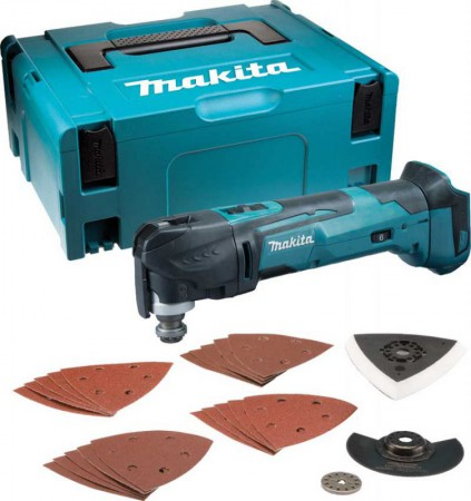 MAKITA DTM51ZJX7 18V MULTI-TOOL QUICK CHANGE WITH MAKPAC CASE & ACCESSORY KIT (No Batteries, Charger)