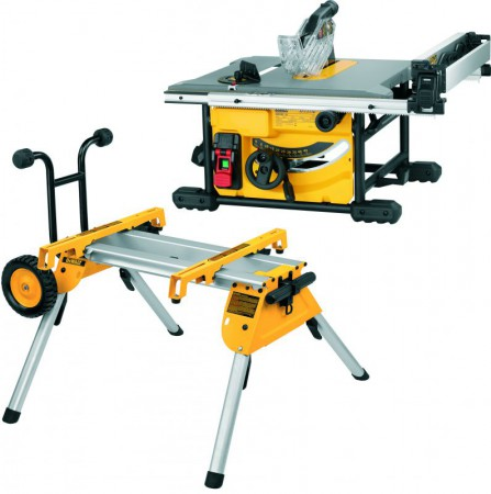 Dewalt DWE7485 240V 1850W Compact Table Saw With DE7400 Rolling Stand