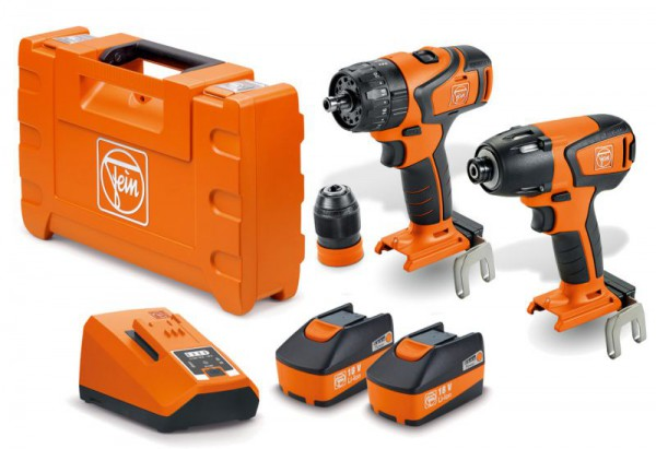Fein 18V Brushless Combi & Impact Driver 2 x 5.2Ah Li-Ion Twin Pack, ALG80 Charger & Case