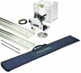 Festool 576009 TS 55 REBQ-Plus-FS 240V 160MM Plunge Saw With Systainer SYS3 Case Plus 2 X 1.4m Guide Rail, 2 X Connector £659.00