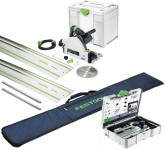 Festool 576009 TS 55 REBQ-Plus-FS 240V 160MM Plunge Saw With Systainer SYS3 Case Plus 2 X 1.4m Guide Rail, Rail Bag & Ac £739.00