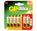 GP Ultra Alkaline Batteries AA card of 12 (8+4) £2.99 Gp Ultra Alkaline Batteries Aa Card Of 12 (8+4)