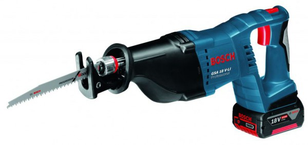 Bosch GSA 18V-LI 18V Cordless Recip Saw With 2 x 4.0Ah Batteries & L-BOXX