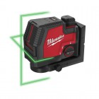Milwaukee L4CLL-301C REDLITHIUM-USB Green Cross Line Laser, 1 x battery 3.0 Ah , USB Cable & Plug, 1 x Track Clip £239.95